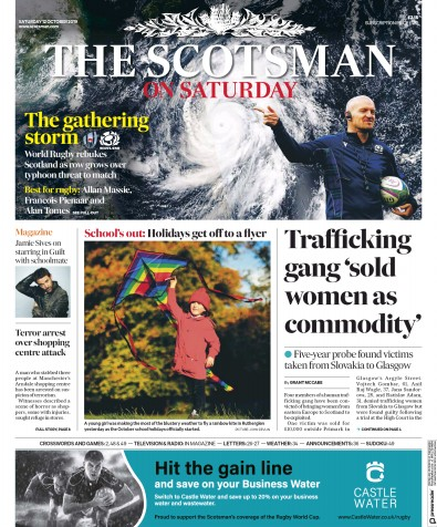 The Scotsman Newspaper Front Page (UK) for 12 October 2019