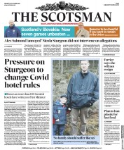 The Scotsman (UK) Newspaper Front Page for 12 October 2020