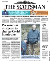 The Scotsman front page for 12 October 2020