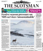 The Scotsman (UK) Newspaper Front Page for 12 December 2017