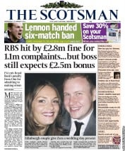 The Scotsman (UK) Newspaper Front Page for 12 January 2011