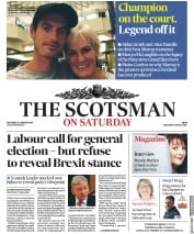 The Scotsman (UK) Newspaper Front Page for 12 January 2019