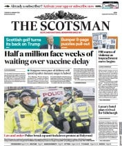 The Scotsman front page for 12 January 2021