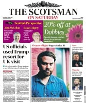 The Scotsman (UK) Newspaper Front Page for 12 May 2018