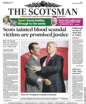 The Scotsman (UK) Newspaper Front Page for 12 July 2017