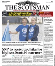 The Scotsman (UK) Newspaper Front Page for 13 December 2017