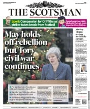 The Scotsman (UK) Newspaper Front Page for 13 December 2018
