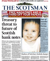 The Scotsman () Newspaper Front Page for 13 January 2012