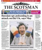 The Scotsman (UK) Newspaper Front Page for 13 March 2018
