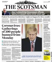 The Scotsman (UK) Newspaper Front Page for 13 March 2020