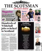 The Scotsman front page for 13 March 2021