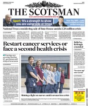The Scotsman (UK) Newspaper Front Page for 13 May 2020