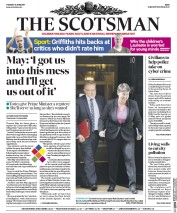 The Scotsman (UK) Newspaper Front Page for 13 June 2017