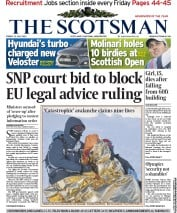 The Scotsman Newspaper Front Page (UK) for 13 July 2012