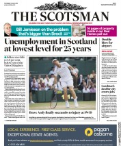 The Scotsman (UK) Newspaper Front Page for 13 July 2017