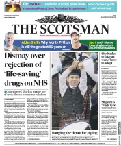 The Scotsman (UK) Newspaper Front Page for 13 August 2019