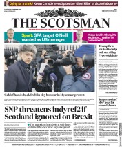 The Scotsman (UK) Newspaper Front Page for 14 November 2017