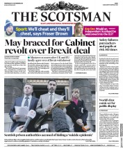The Scotsman (UK) Newspaper Front Page for 14 November 2018