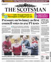 The Scotsman (UK) Newspaper Front Page for 14 December 2018