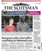 The Scotsman (UK) Newspaper Front Page for 14 January 2019
