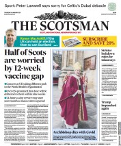 The Scotsman front page for 14 January 2021
