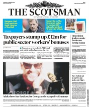 The Scotsman (UK) Newspaper Front Page for 14 February 2017