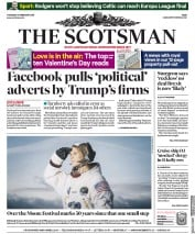 The Scotsman (UK) Newspaper Front Page for 14 February 2019
