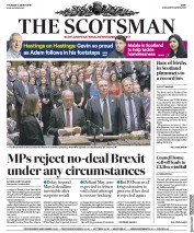 The Scotsman (UK) Newspaper Front Page for 14 March 2019