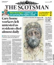 The Scotsman front page for 14 May 2020