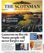 The Scotsman (UK) Newspaper Front Page for 14 September 2019