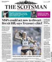 The Scotsman front page for 14 September 2020