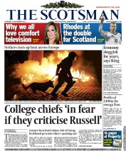 The Scotsman () Newspaper Front Page for 15 November 2012