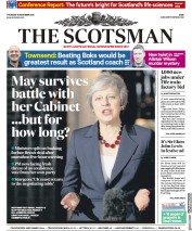The Scotsman (UK) Newspaper Front Page for 15 November 2018