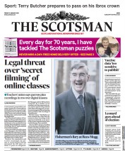 The Scotsman front page for 15 January 2021