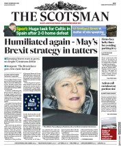The Scotsman () Newspaper Front Page for 15 February 2019