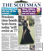 The Scotsman () Newspaper Front Page for 15 May 2012