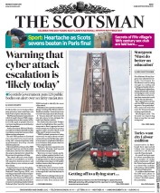 The Scotsman (UK) Newspaper Front Page for 15 May 2017