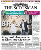 The Scotsman (UK) Newspaper Front Page for 15 May 2018