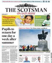 The Scotsman (UK) Newspaper Front Page for 15 June 2020