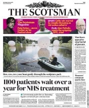 The Scotsman (UK) Newspaper Front Page for 15 July 2017