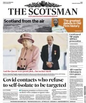 The Scotsman front page for 16 October 2020