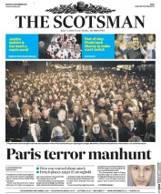 The Scotsman (UK) Newspaper Front Page for 16 November 2015
