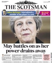 The Scotsman (UK) Newspaper Front Page for 16 November 2018
