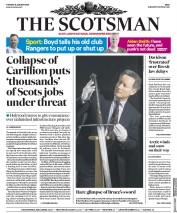 The Scotsman (UK) Newspaper Front Page for 16 January 2018