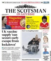 The Scotsman front page for 16 January 2021