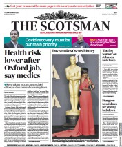 The Scotsman front page for 16 March 2021