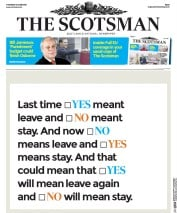 The Scotsman () Newspaper Front Page for 16 June 2016