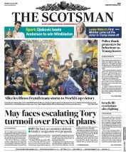 The Scotsman (UK) Newspaper Front Page for 16 July 2018
