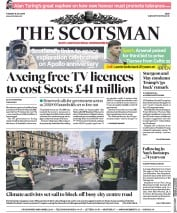 The Scotsman (UK) Newspaper Front Page for 16 July 2019