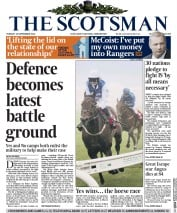 The Scotsman (UK) Newspaper Front Page for 16 September 2014